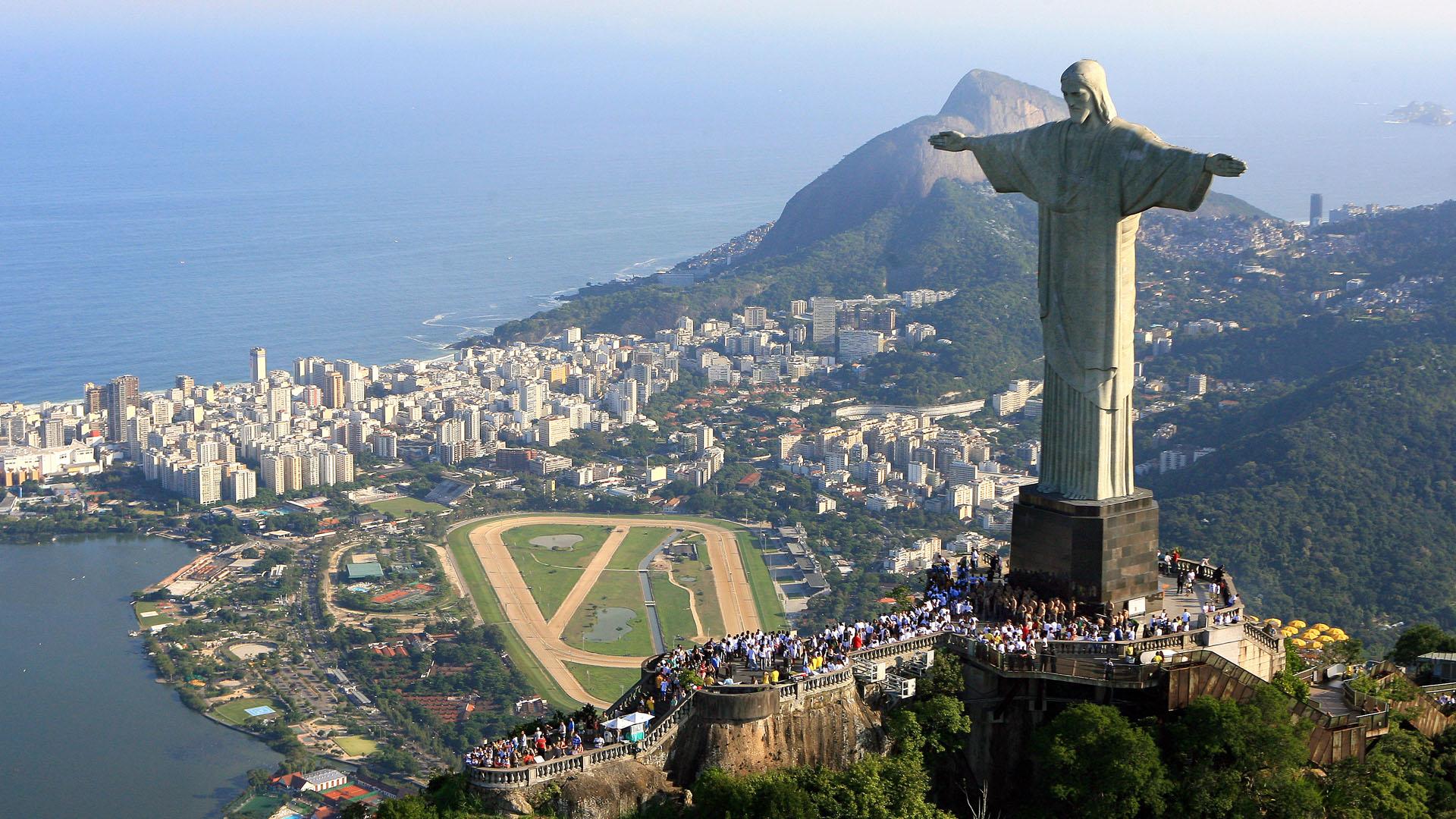 Imagem do rio de Janeiro com Cristo Redentor