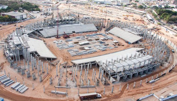 Resultado de imagem para arena das dunas construção