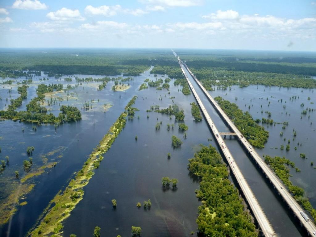 36 km Manchac Swamp Bridge, Louisiana ponte
