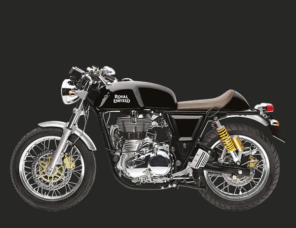 Imagem da motocicleta Royal Enfield de cor preta