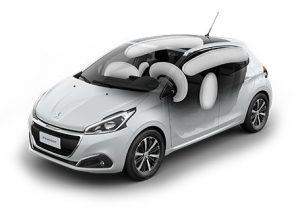 Airbags. (Créditos: carros.peugeot.com.br).