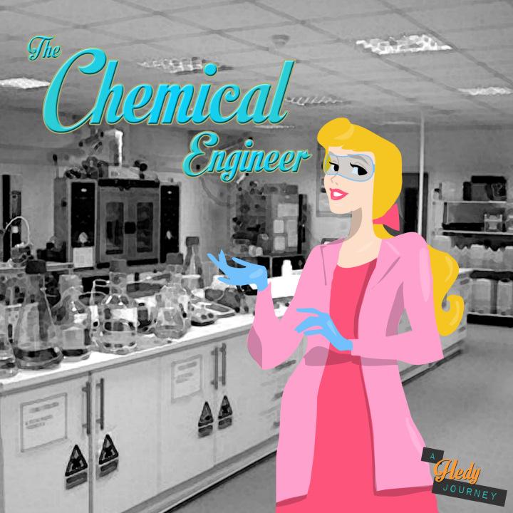 Princesa aurora de engenheira química