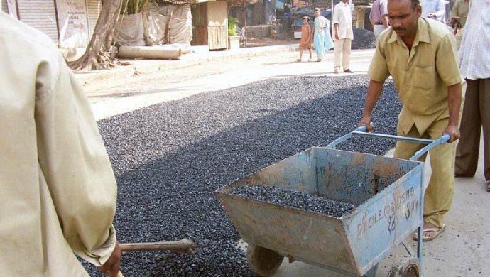 Imagem de construção de estrada