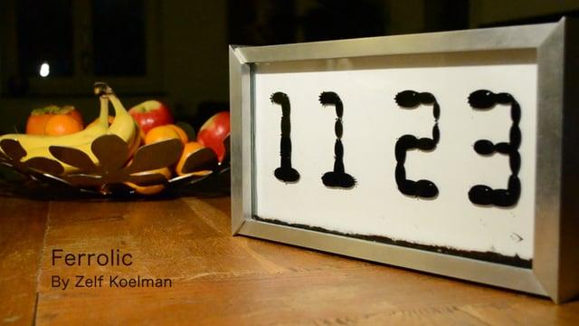 Relógio de ferrofluido faz horas fluirem. Literalmente!