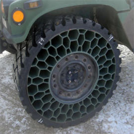 Novo pneu a 'prova de balas' não usa ar