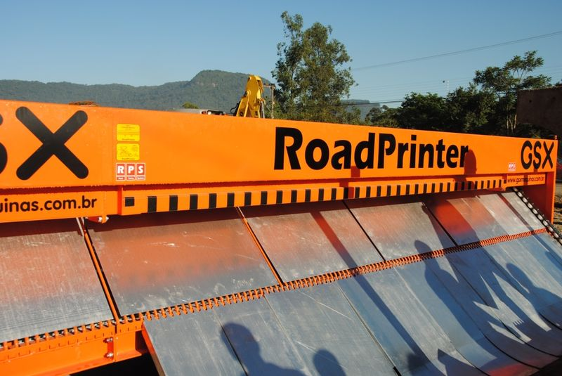 A espetacular impressora de pavimentos