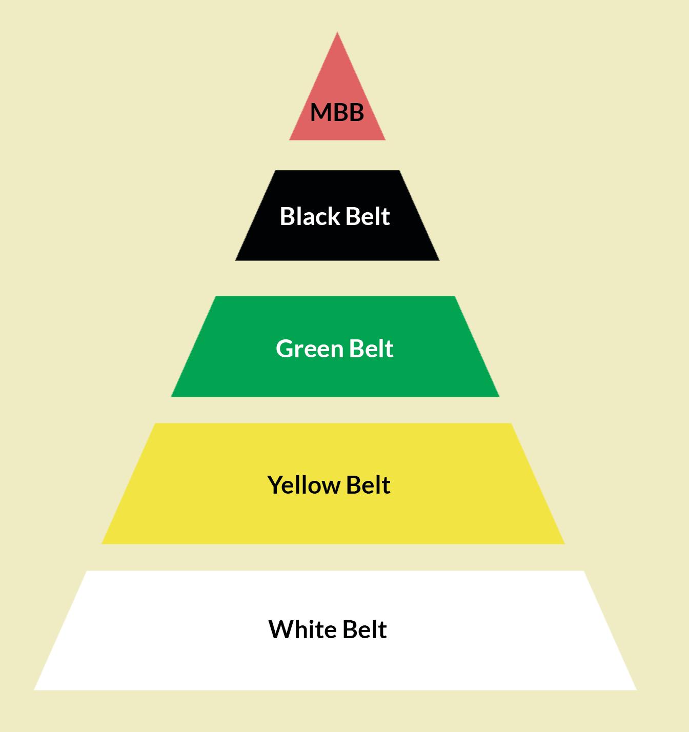 O que significa cada BELT na certificação Six Sigma?