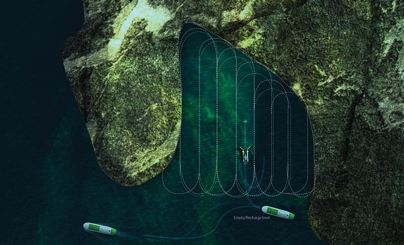 Robô limpa o mar e transforma algas tóxicas em biocombustível
