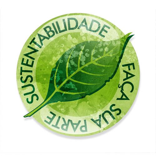 selo de sustentabilidade representando engenharia verde