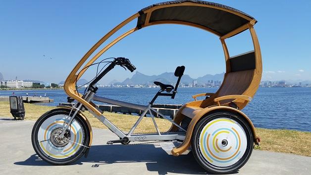 Metade bicicleta, metade táxi: projeto pretende levar meio de transporte curioso para as ruas do RJ