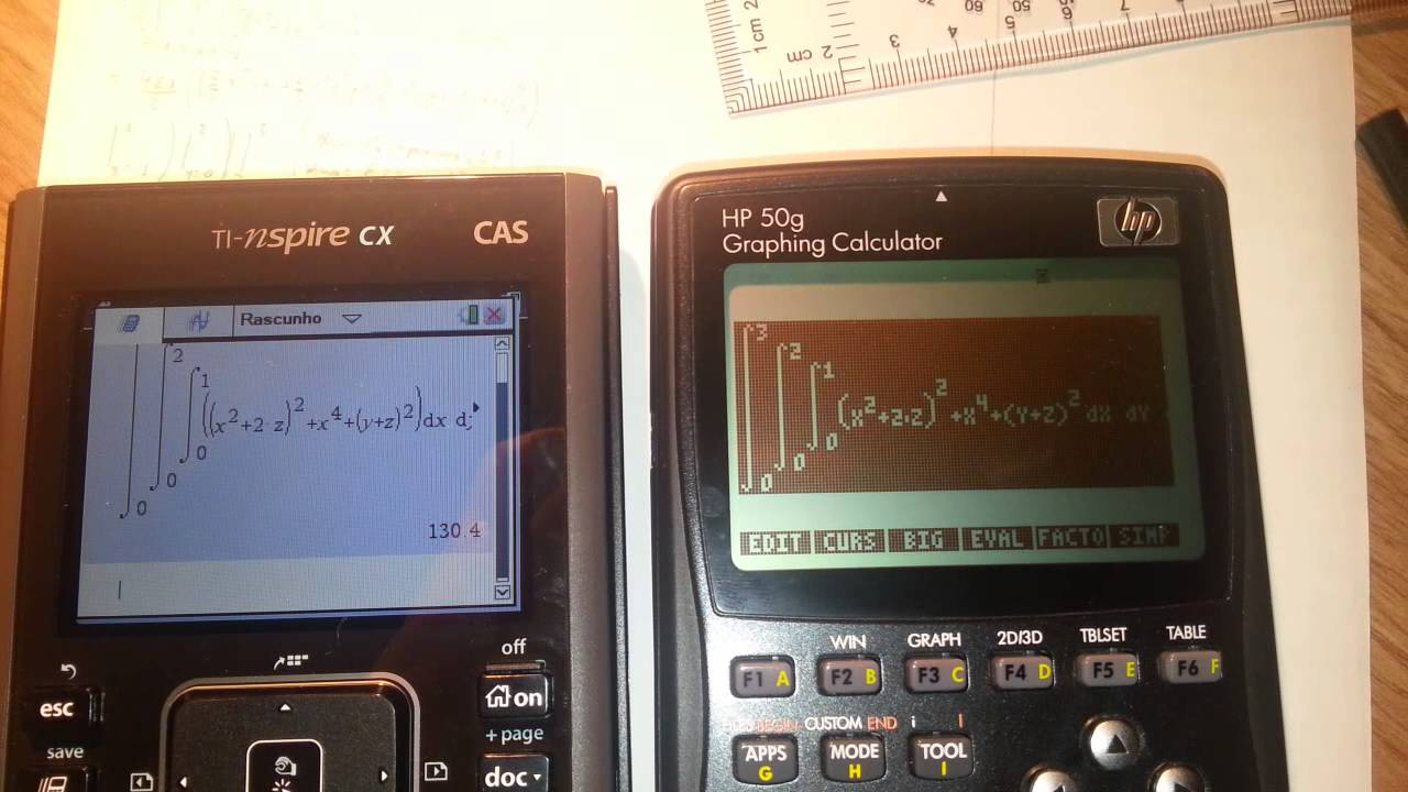HP50G x TI NSpire - Quais as principais diferenças dessas duas calculadoras para engenharia?