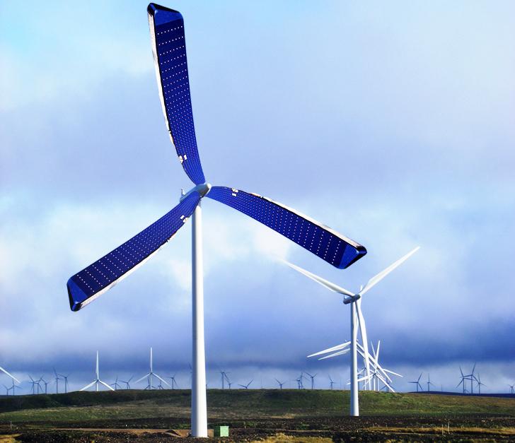 Energia Renovável - cientistas criam turbina eólica com placas solares