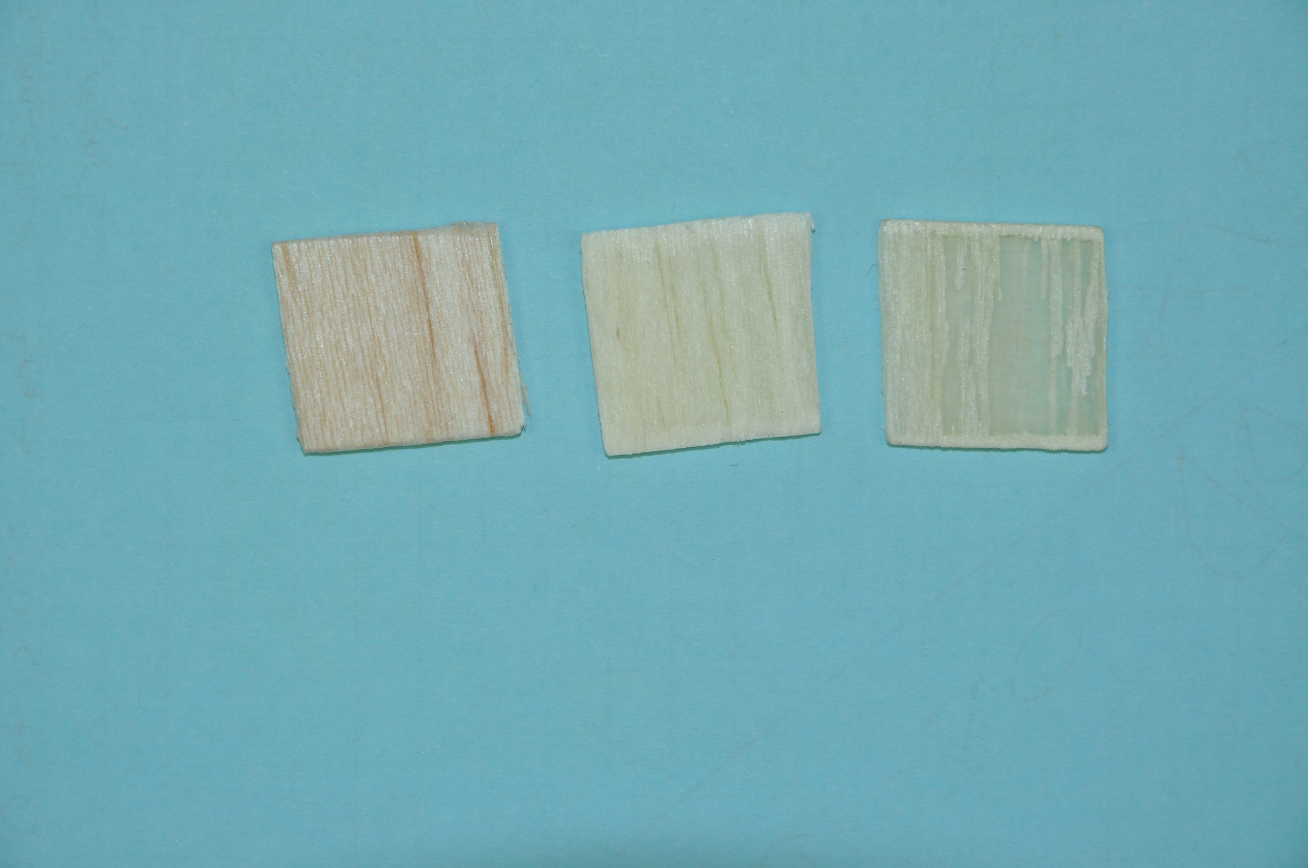 Madeira artificial transparente