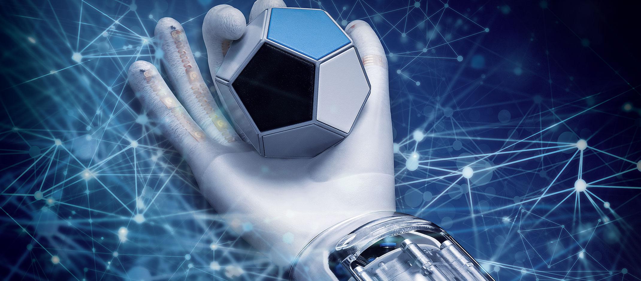 BioSoftHand: mão robótica macia que usa IA para estratégias de movimento