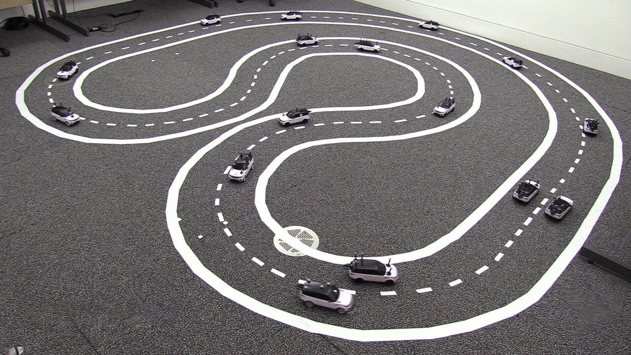 Carros autônomos funcionando cooperativamente reduzem o engarrafamento