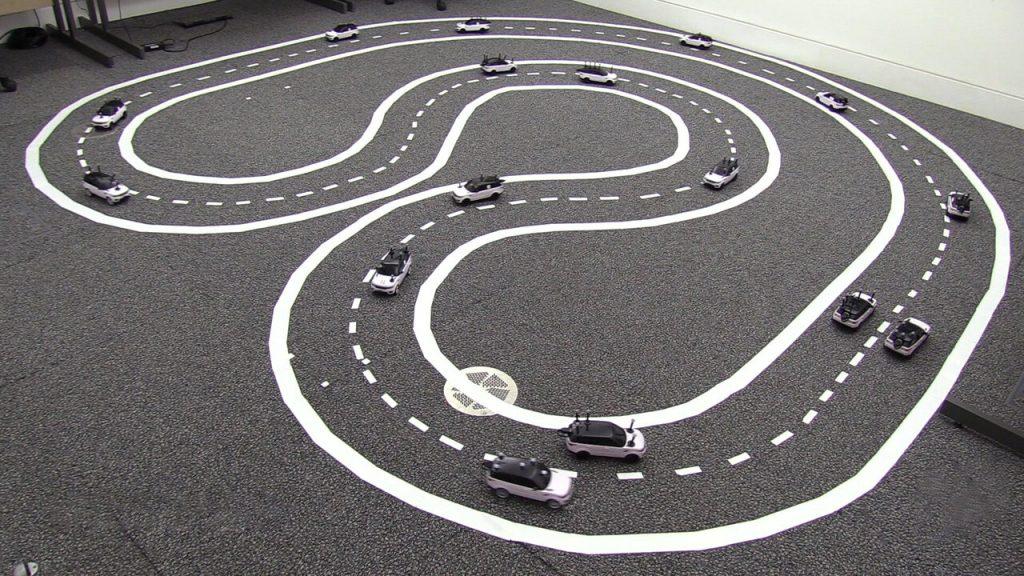 carros autônomos funcionando cooperativamente