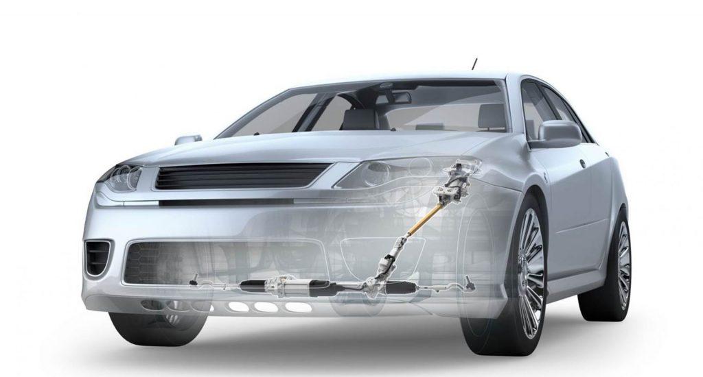 Carro com sistema de direção elétrica