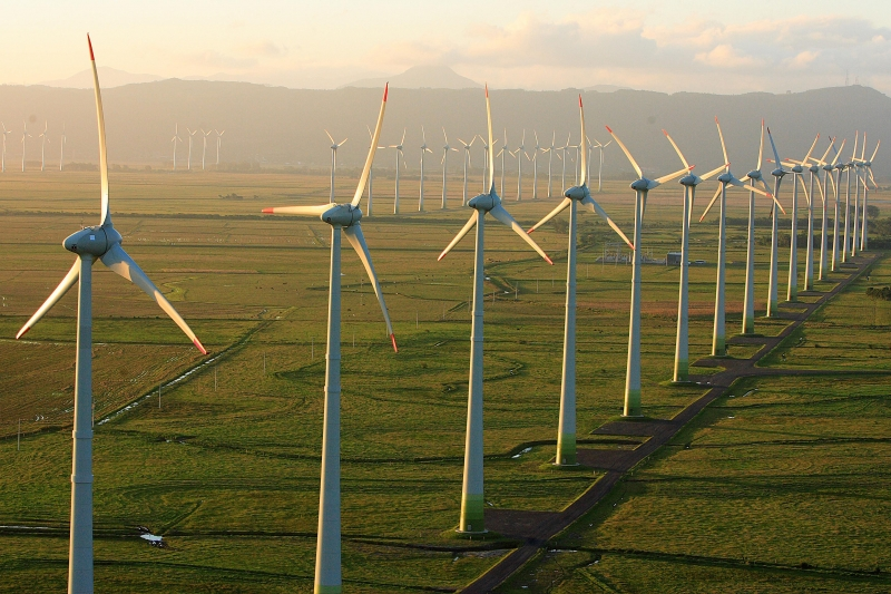 hélices de energia eólica renovável