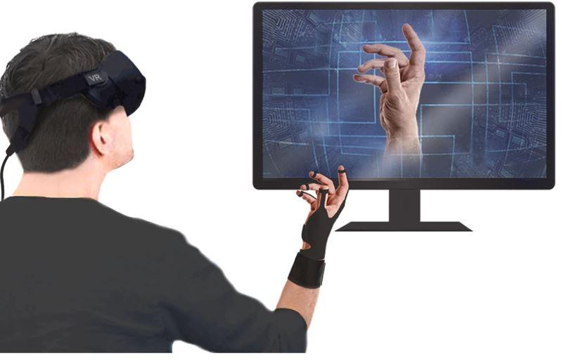 Luvas de realidade virtual permitem que usuário sinta o formato dos objetos