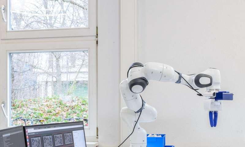 robô pegar e manipular objetos
