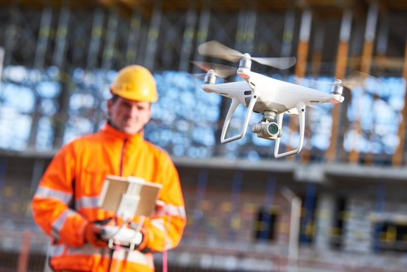 uso de drone em construção civil
