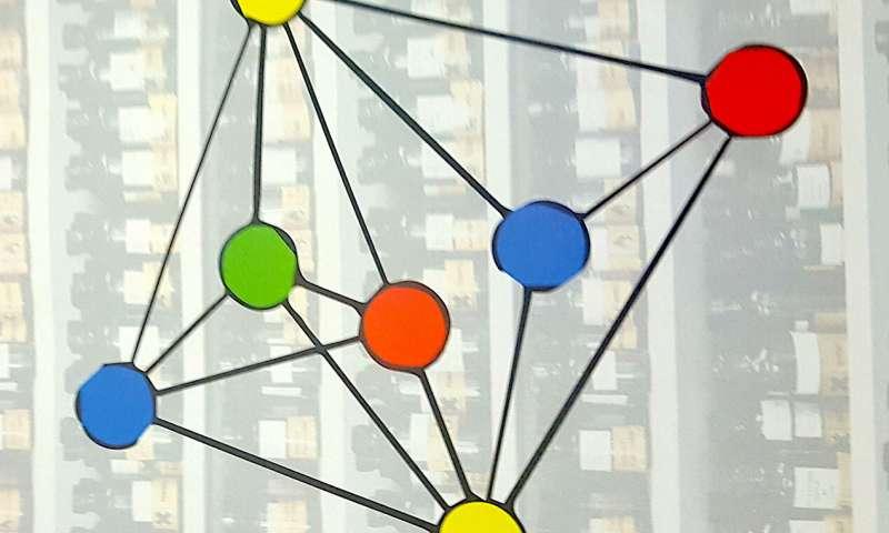 grafo com nós coloridos para nós conectados ChemStor
