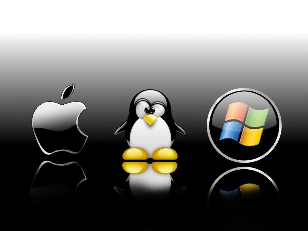 Logo da Apple, Linux e Windows