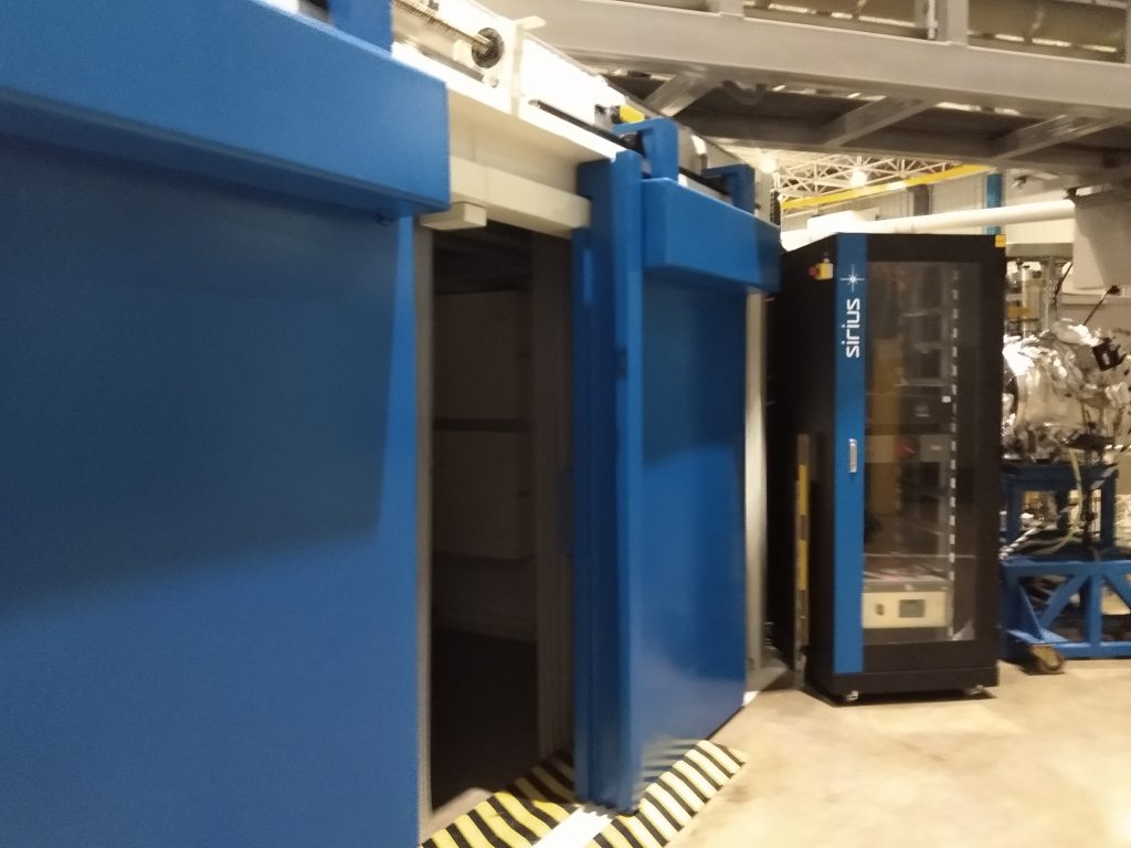 Detalhe de segurança contra radiação no, atualmente desativado, patamar das estações de operação do LNLS UVX.