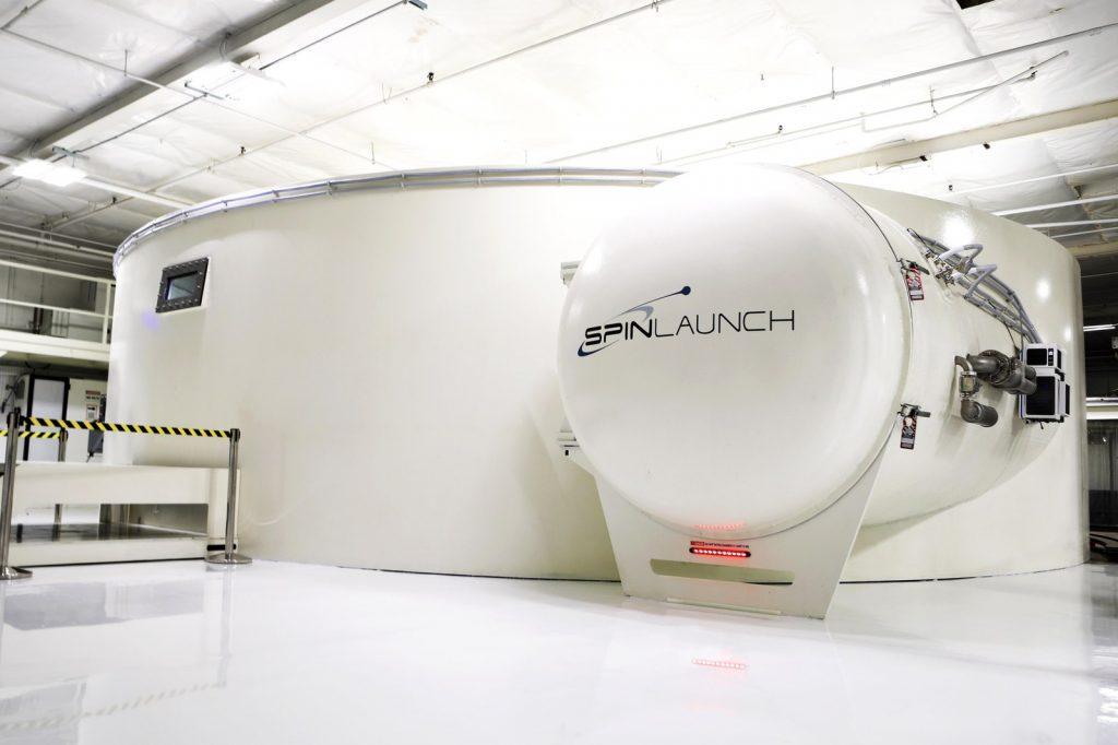 Protótipo de 12 metros de diâmetro da centrífuga de lançamento. Imagem: SpinLaunch.