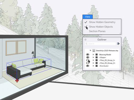 imagem de interior casa feita no sketchup 2020