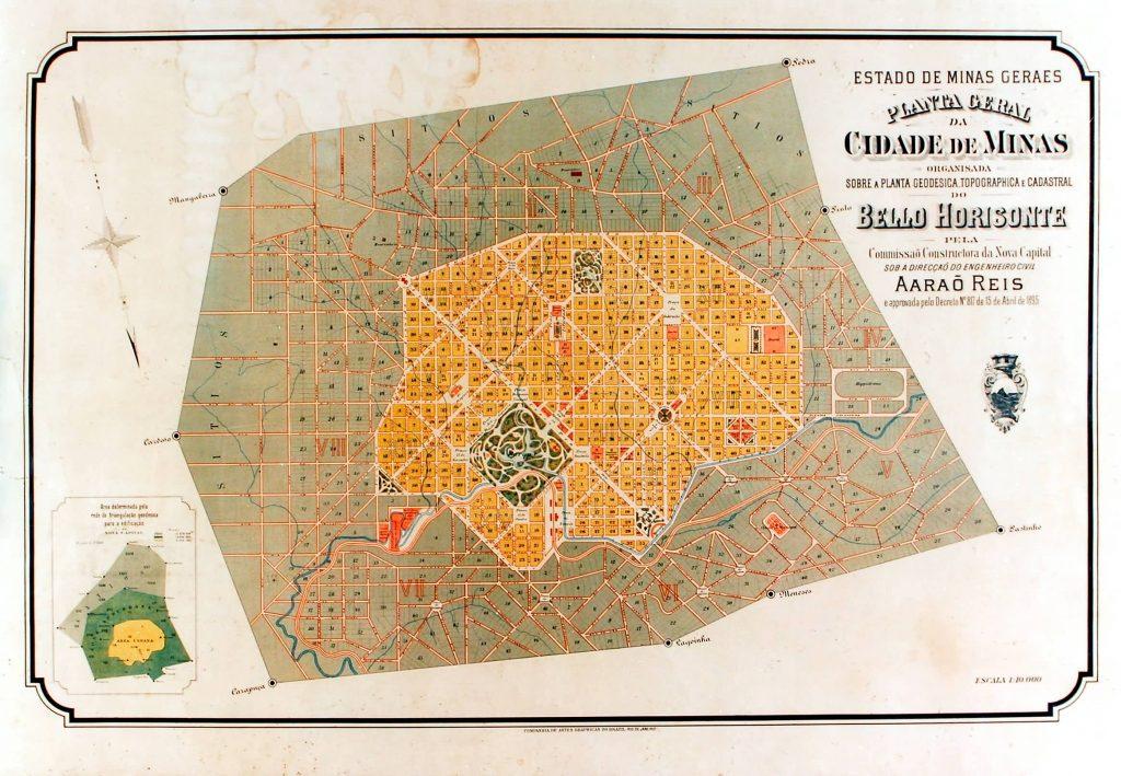 mapa de planejamento de Belo Horizonte avenida do contorno