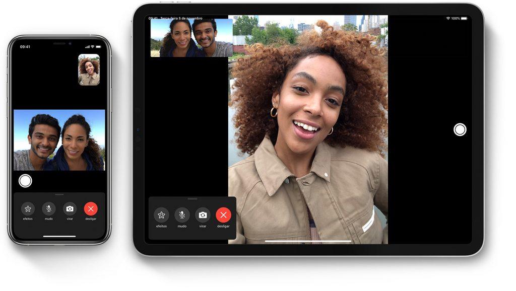videochamadas via facetime