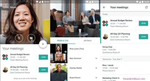 videochamadas via hangouts meet