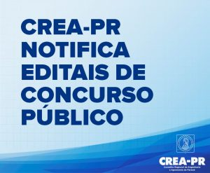 nota do CREA-PR sobre editais de concurso público