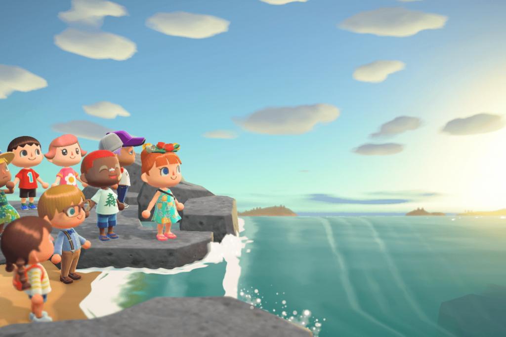 Animal Crossing. Imagem: Nintendo via MIT Tech Review.