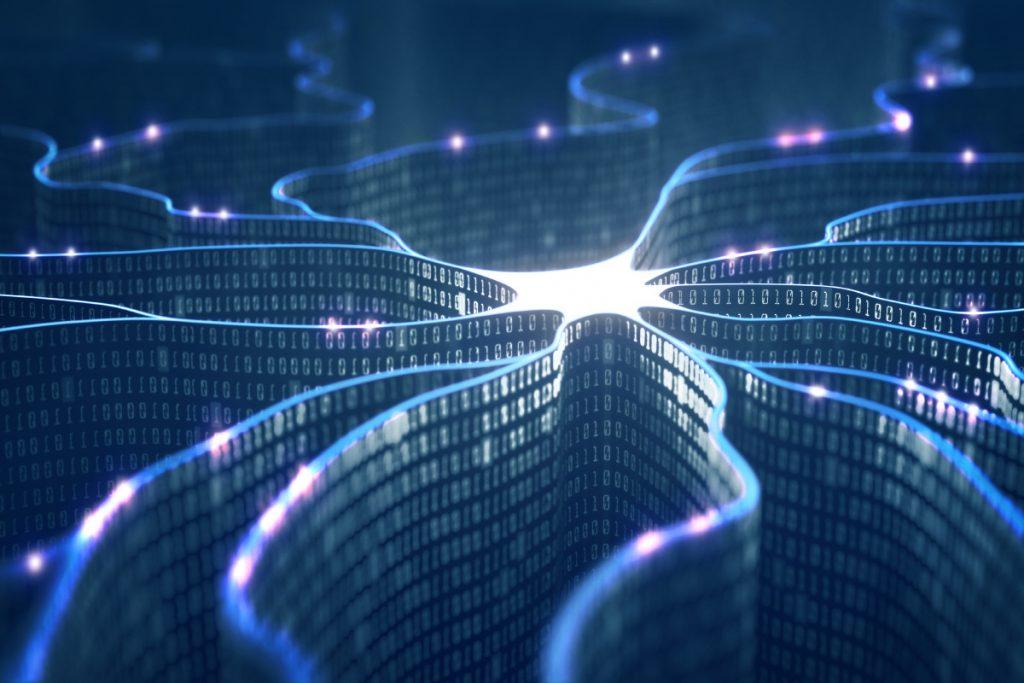 rede conectada representando inteligencia artificial