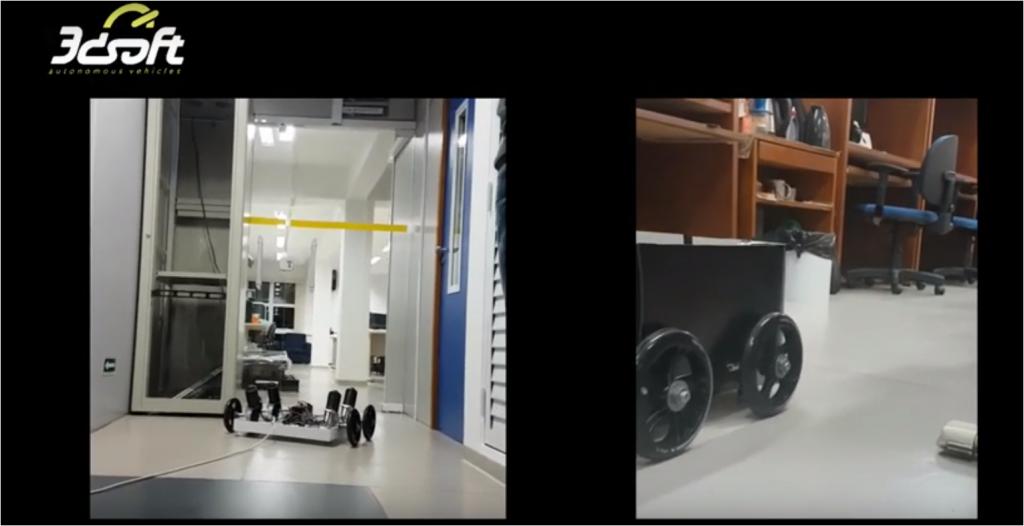 robô delivery da usp em testes por corredores