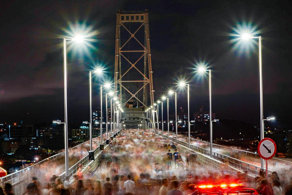 inauguração ponte hercilio luz