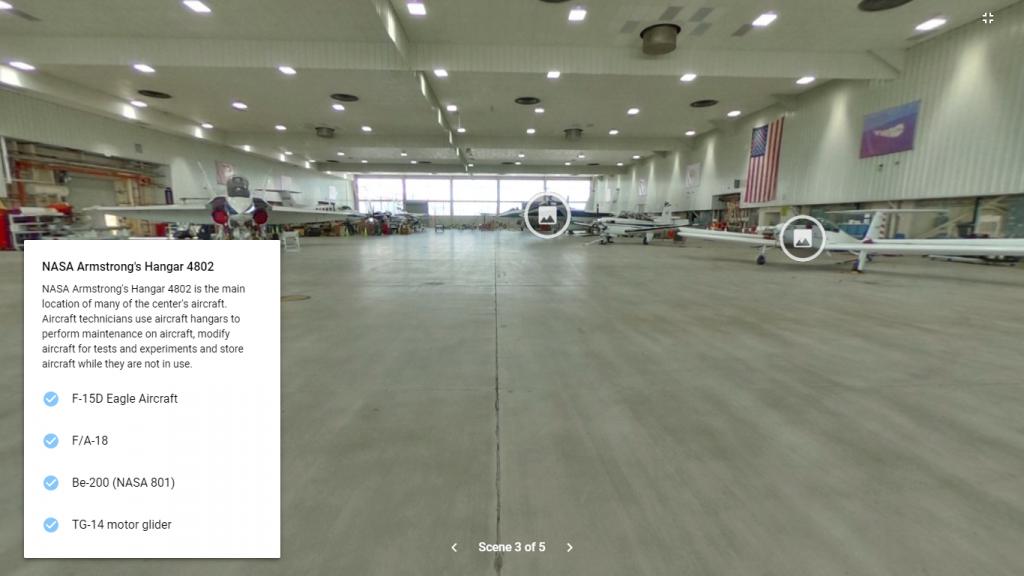 """NASA tour """"Go for flight"""". Imagem: screenshot/redação Engenharia 360."""