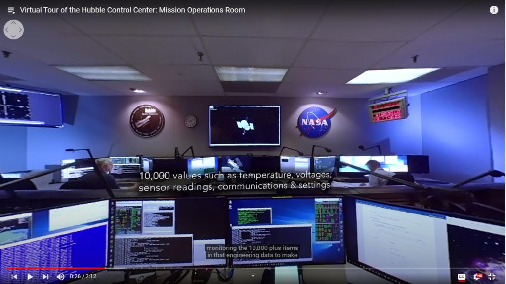NASA tour do telescópio Hubble. Imagem: screenshot/redação Engenharia 360.