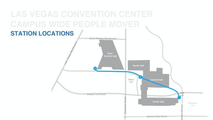 Centro de convenções em Vegas contendo traçado do túnel da Boring Company.