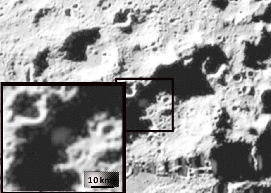 Screen de resultados do ICROSS para medir a pureza da água na lua. Imagem: NASA.
