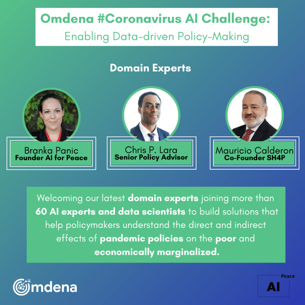 banner especialistas que em AI que estão engajados no projeto da Omdena