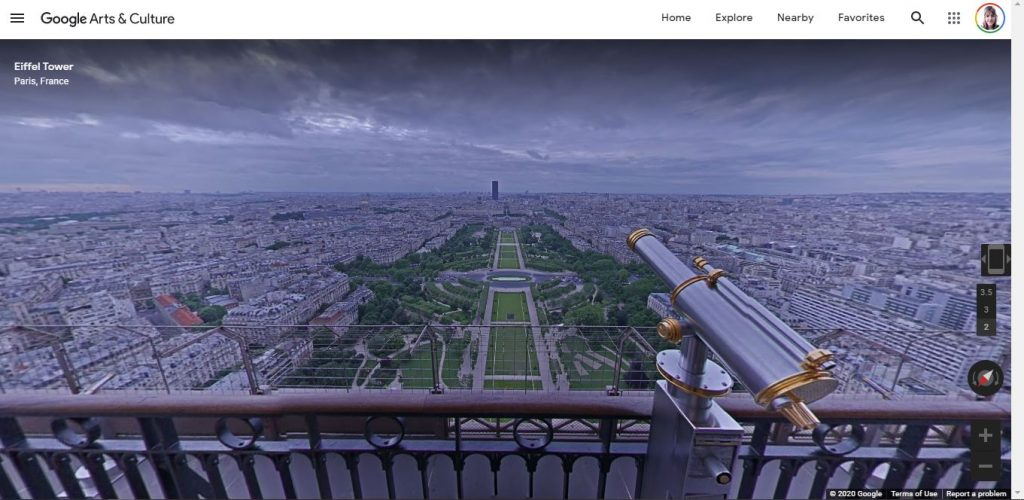 Tour virtual Torre Eiffel Engenharia 360