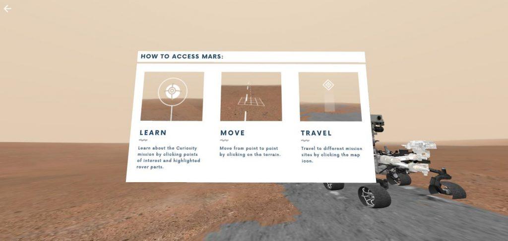 Access Mars tour via captura pelo Engenharia 360.