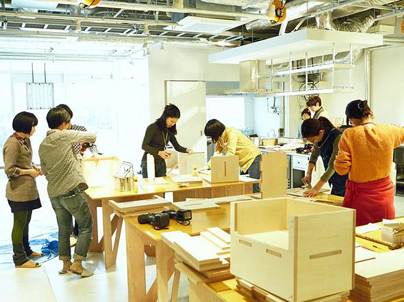 Oficina de artesanato na cidade de Fujisawa Japão