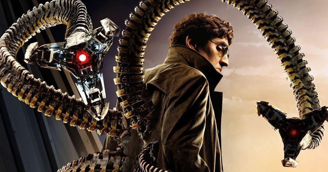 Imagem do Doutor Octopus com seus braços mecânicos.