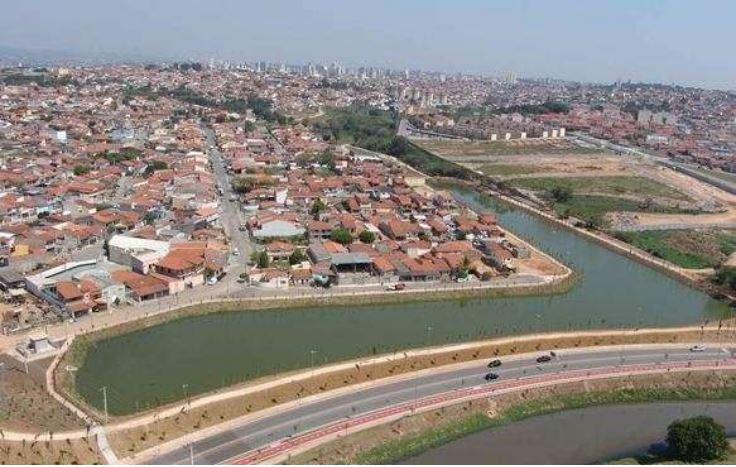 Bacia de contenção em Sorocaba - SP para reduzir inundações