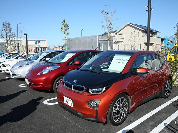 Carros disponíveis para os moradores de Fujisawa SST