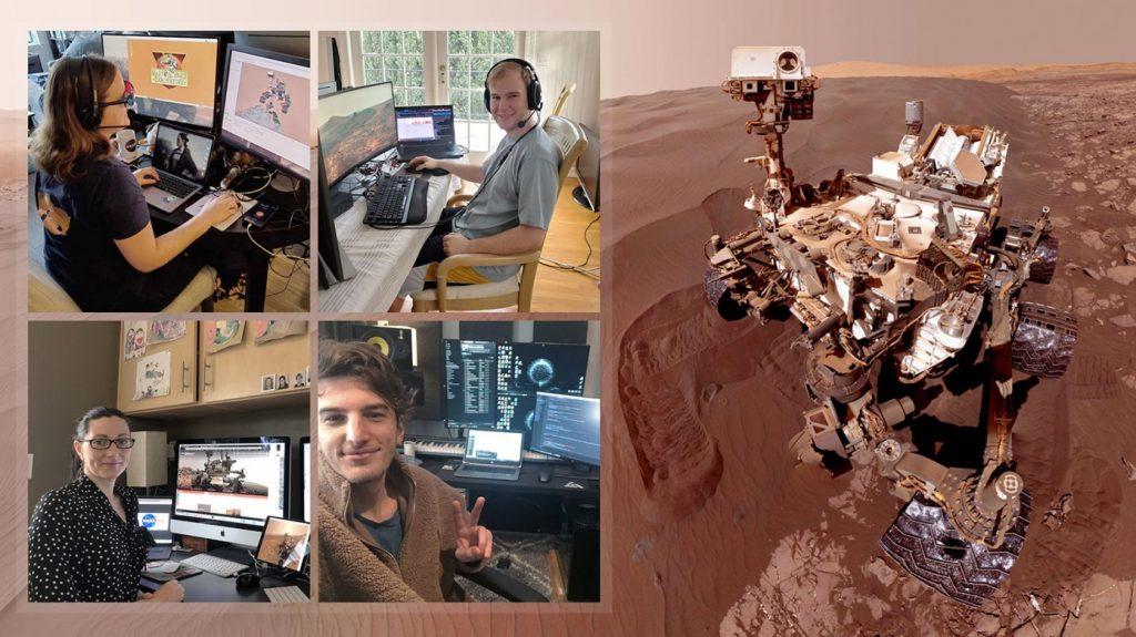 Time operando o Curiosity rover. Imagem: NASA/JPL-Caltec